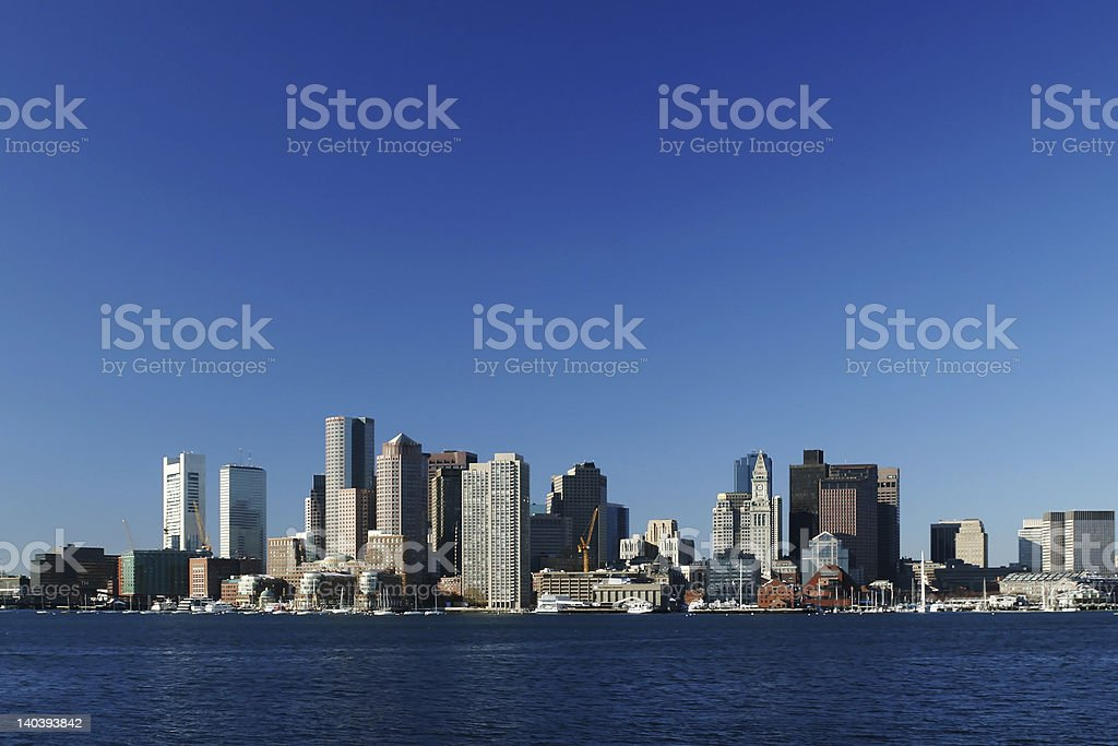 Overview of Boston city skyline royalty-free stock photo