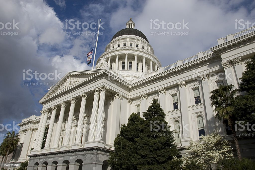 Overview of California State Capitol Building stock photo