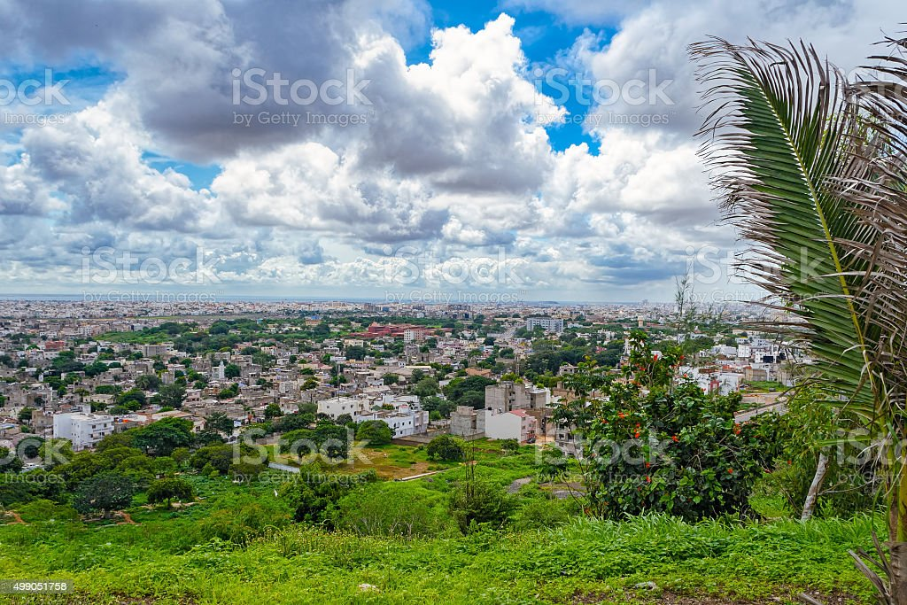 Overview of Dakar stock photo