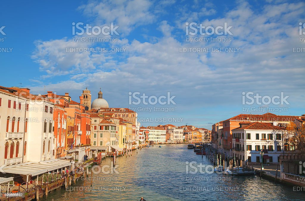Overview of Grand Canal in Venice, Italy stock photo