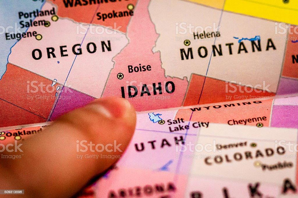 Overview of Idaho stock photo