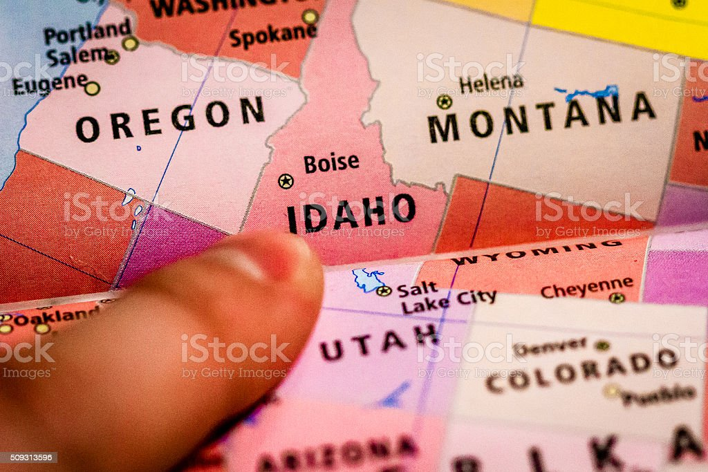 Overview of Idaho stock photo