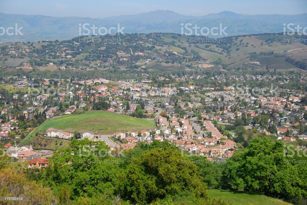 Overview of Luxury Houses in Silicon Valley stock photo