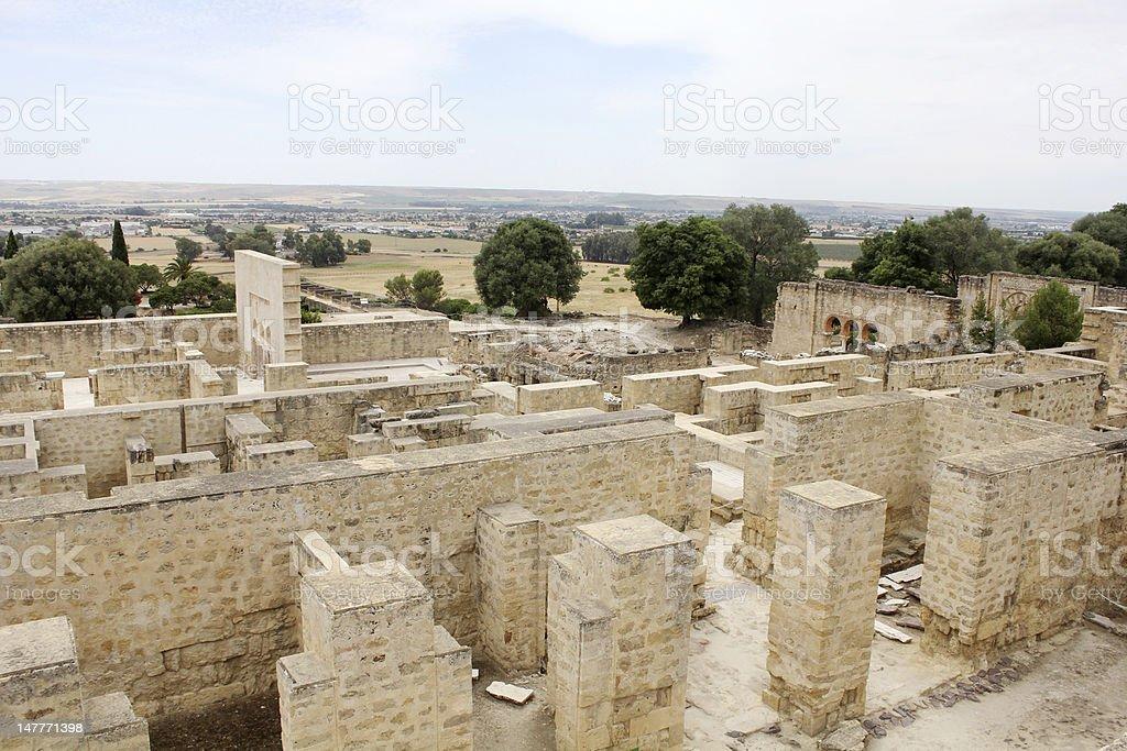 Overview of Madinat al-Zahra in Cordoba royalty-free stock photo
