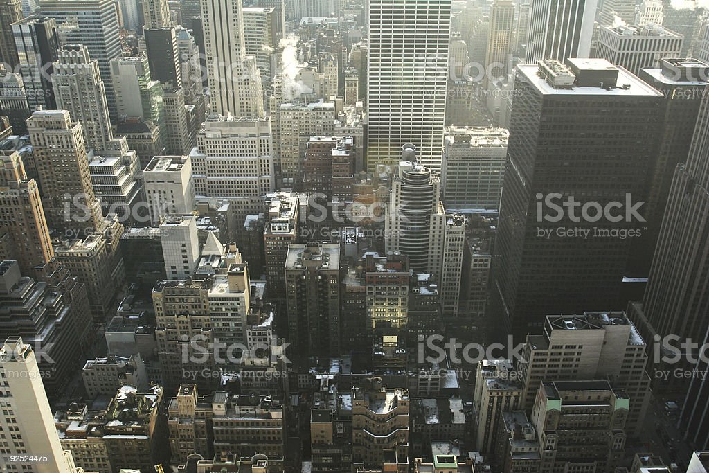 Overview of New York City royalty-free stock photo