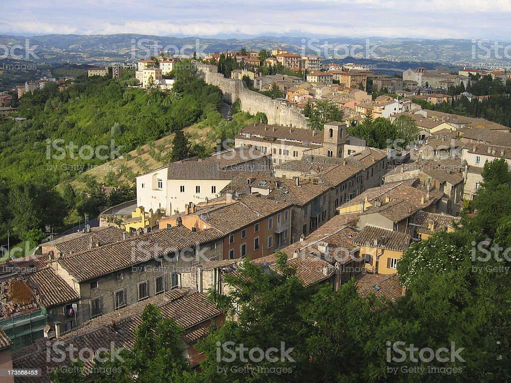 Overview of Perugia, Italy stock photo