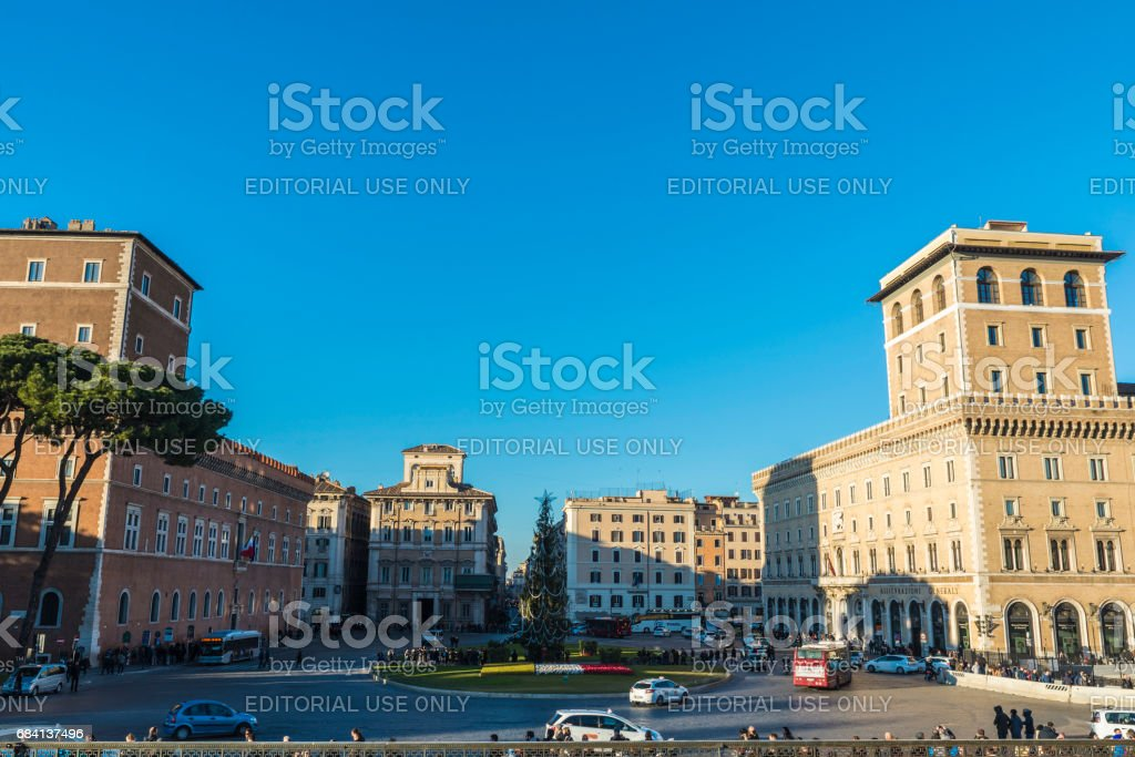 Overview of Rome, Italy stock photo