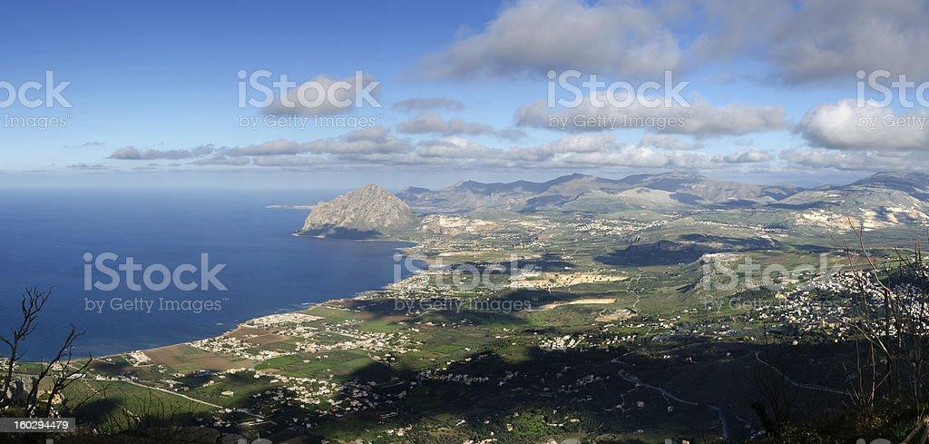 overview of San Vito Lo Capo royalty-free stock photo
