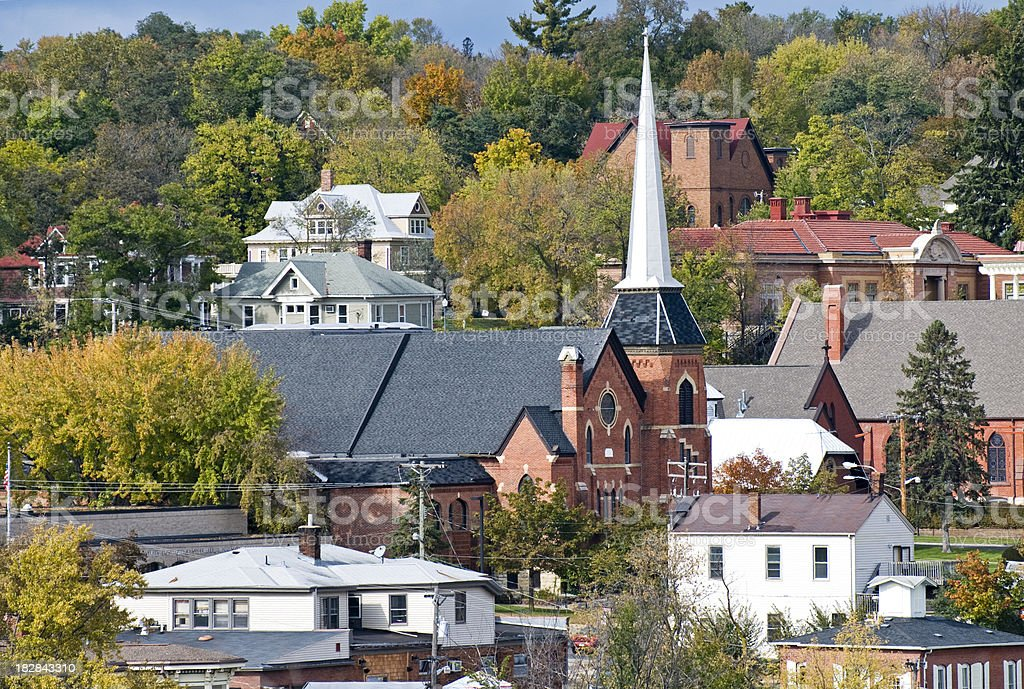 Overview of town in Minnesota royalty-free stock photo