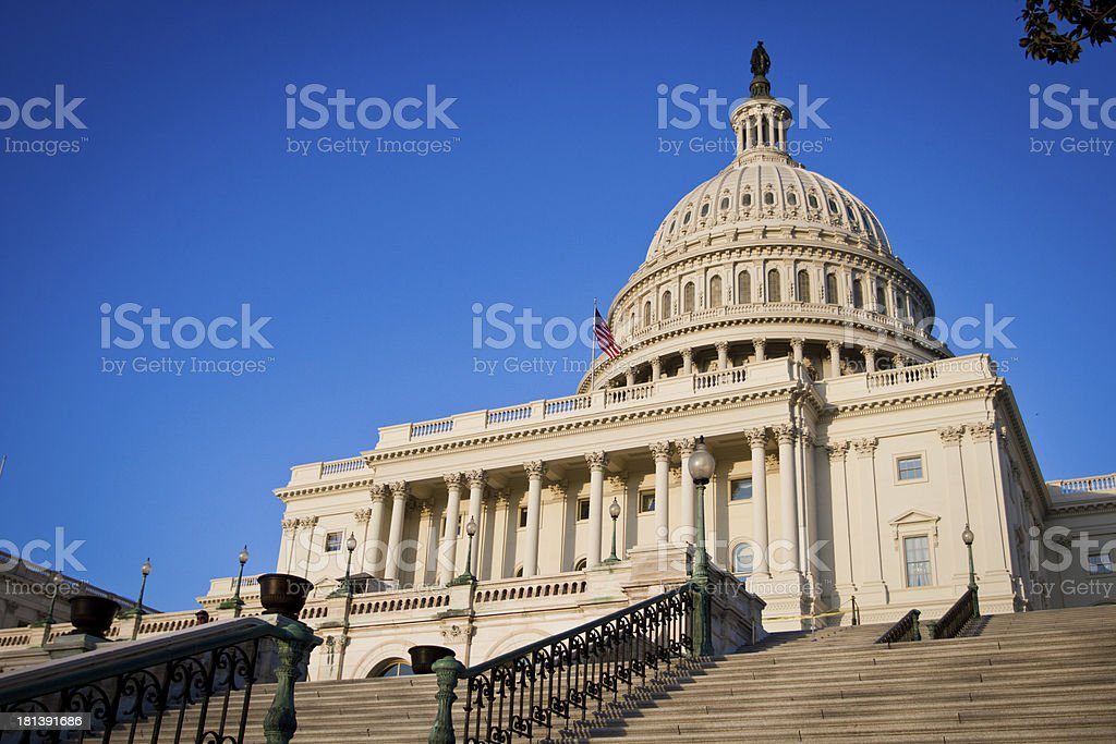 Overview of United States Capitol Building in Washington DC stock photo