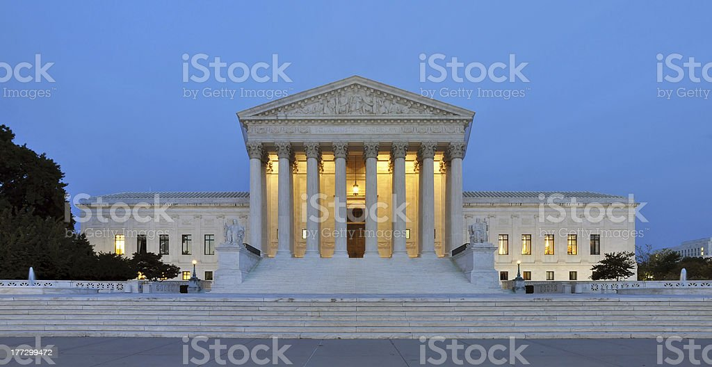 Overview of United States Supreme Court building stock photo