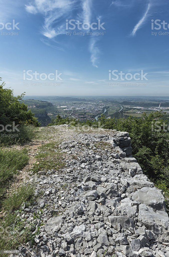 Overview of  'Valle dell'Adige' royalty-free stock photo