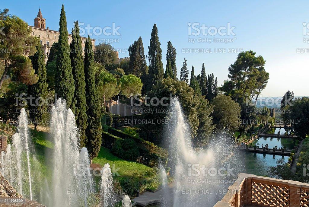 Overview of Villa d'Este stock photo