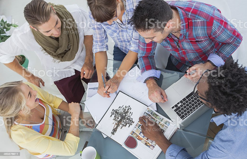 Overview of young designers working together royalty-free stock photo