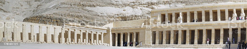 Overview Temple of Queen Hatshepsut at Luxor stock photo