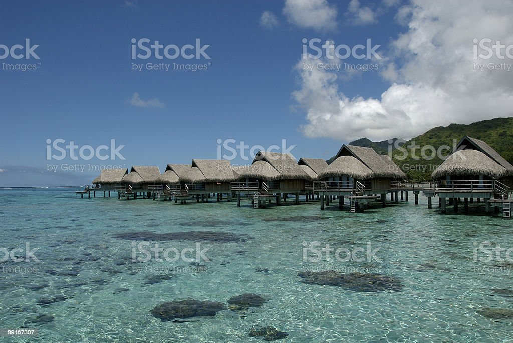 Overwater Bungalow stock photo