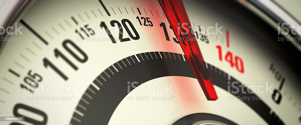 Overweight and Obesity, Bathroom Scale stock photo