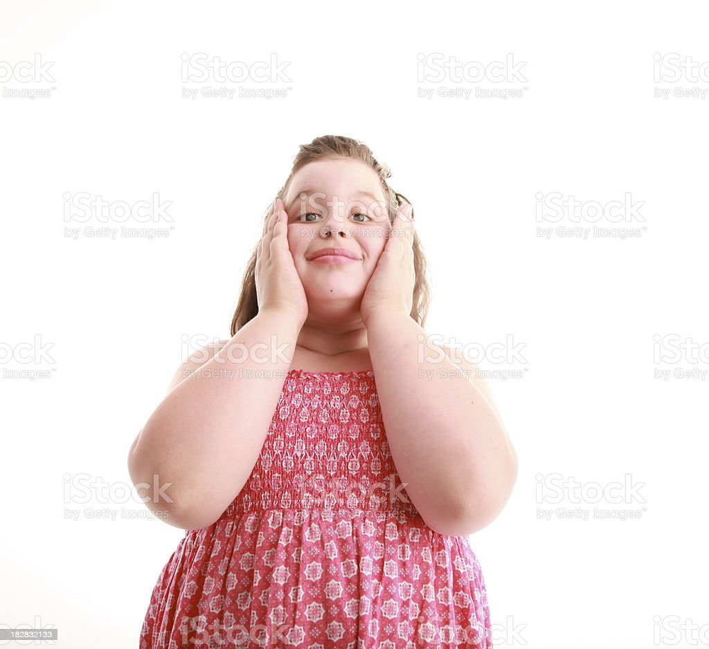 Overweight Child royalty-free stock photo