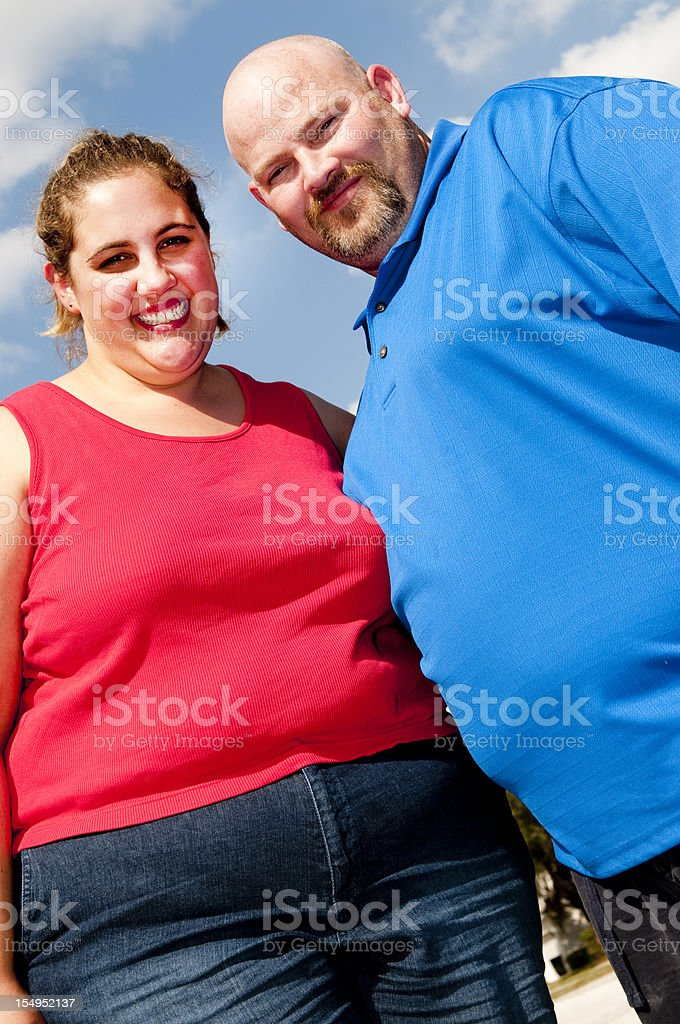 Overweight Couple royalty-free stock photo