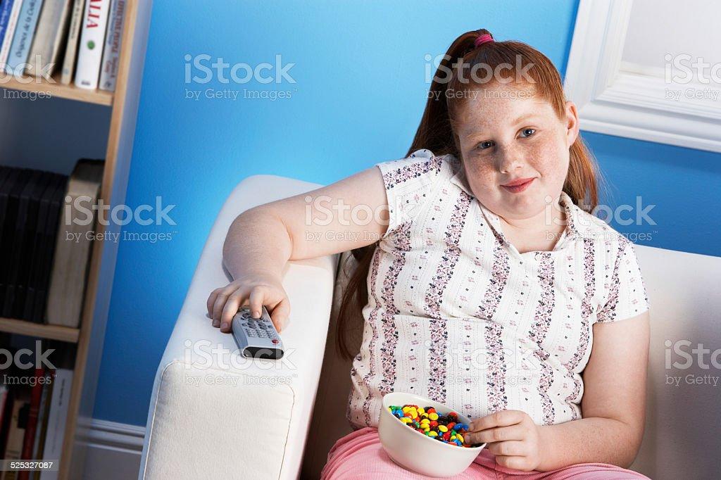 Overweight Girl stock photo