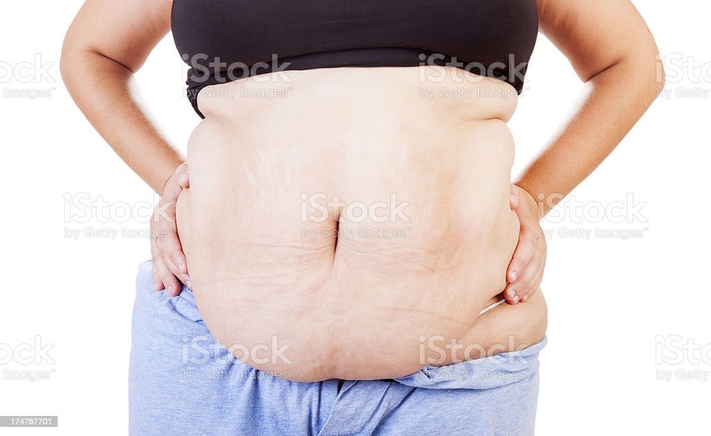 Overweight lady standing. royalty-free stock photo