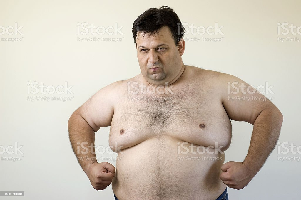 Overweight Man Posing royalty-free stock photo