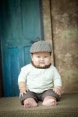 overweight Peaked cap baby