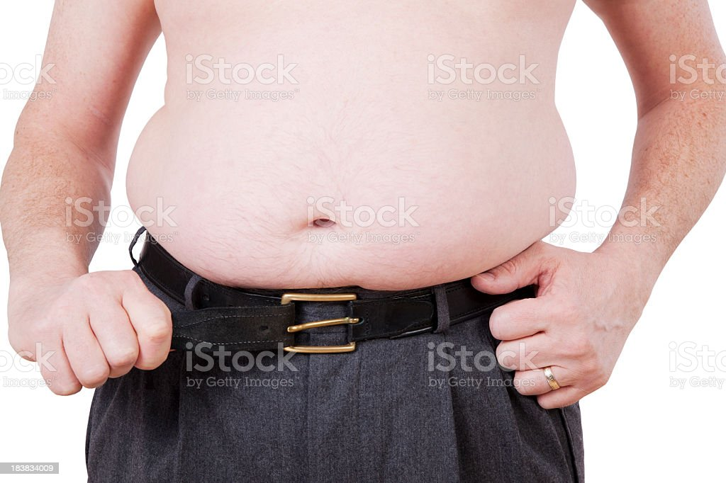 Overweight royalty-free stock photo