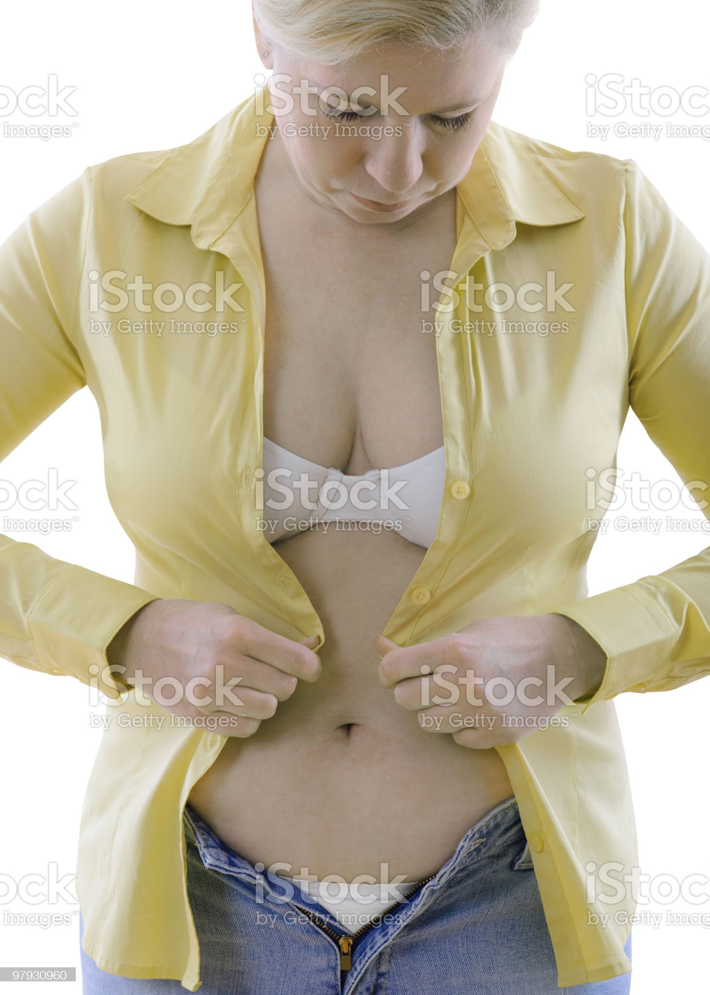 overweight woman royalty-free stock photo