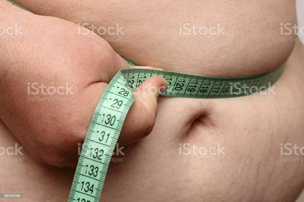 overweight women stomach royalty-free stock photo