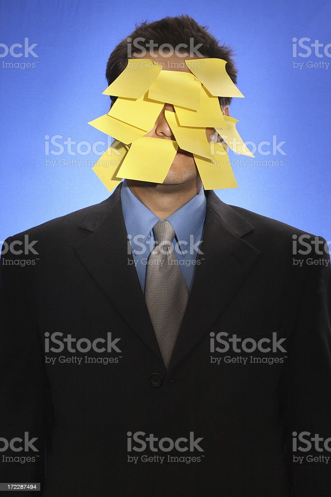 Overwhelmed at the office royalty-free stock photo