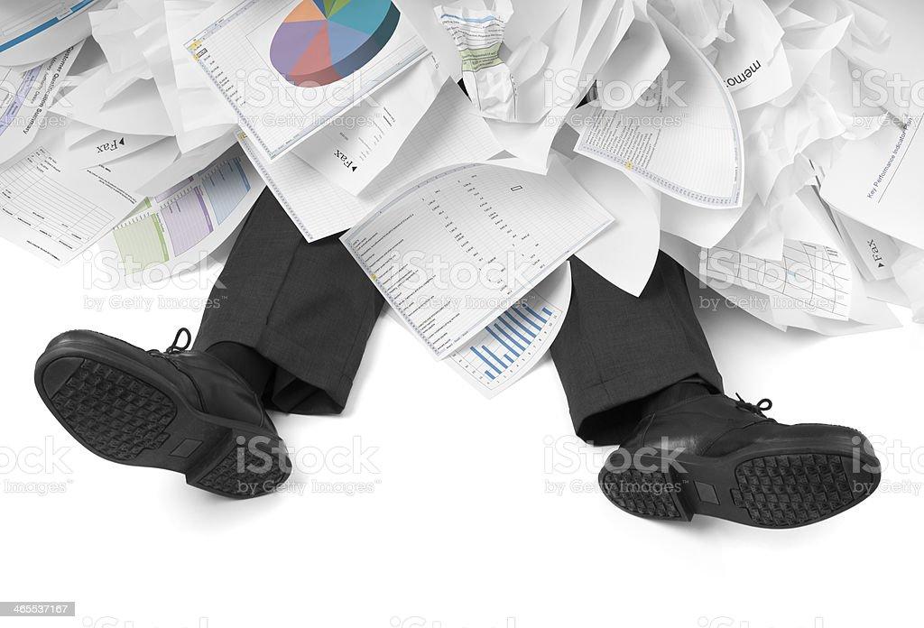 Overwhelmed Businessman stock photo