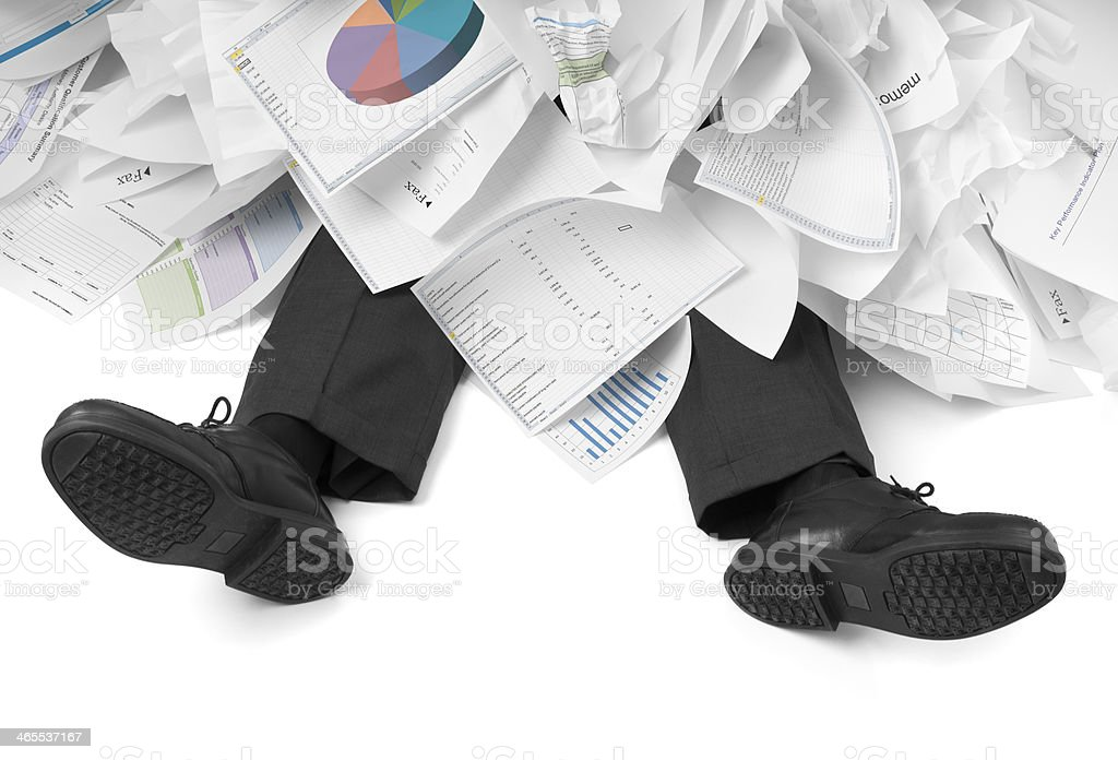 Overwhelmed Businessman stock photo
