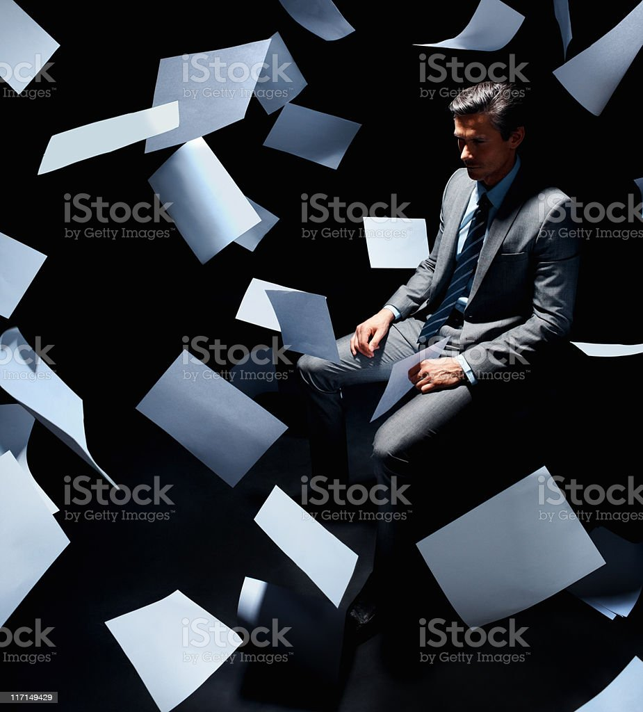 Overwhelmed royalty-free stock photo