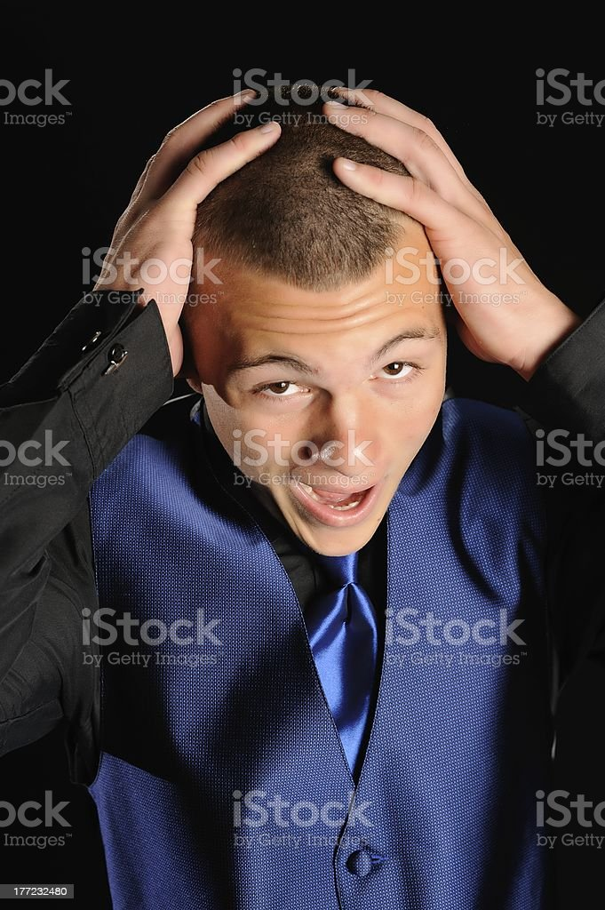 Overwhelmed Prom Date royalty-free stock photo