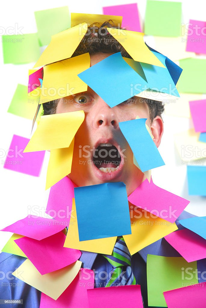 Overwhelmed Worker royalty-free stock photo