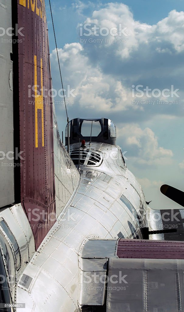 Overwing B-17 Vertical stock photo