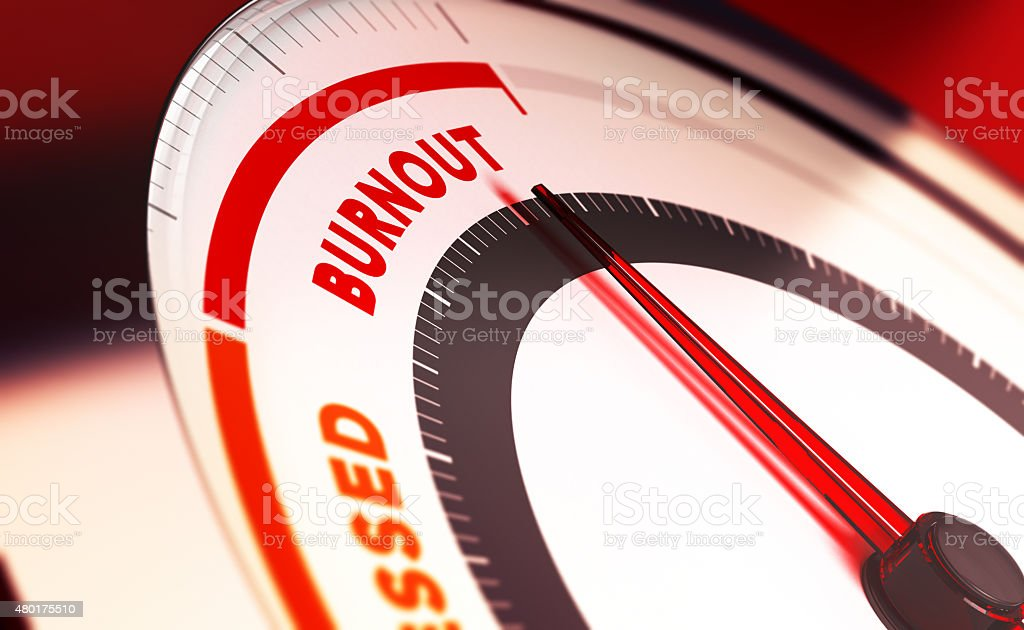 Overwork and Burnout Concept stock photo