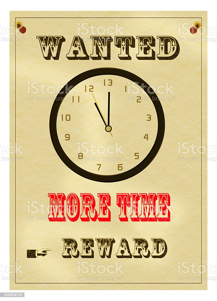 Overwork, more time wanted, business concept. Notice. stock photo