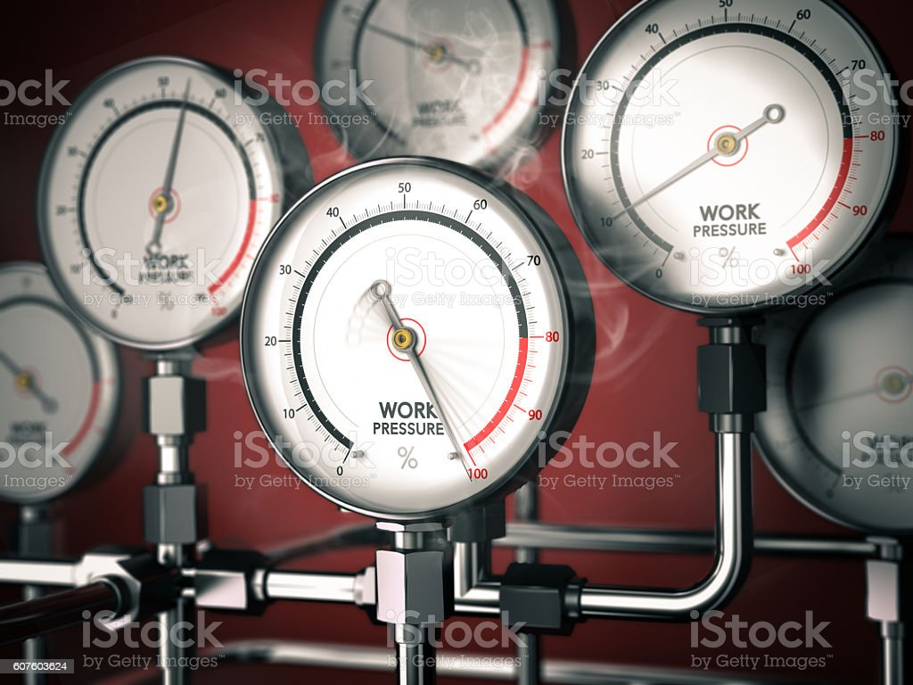 Overwork or Burnout stock photo