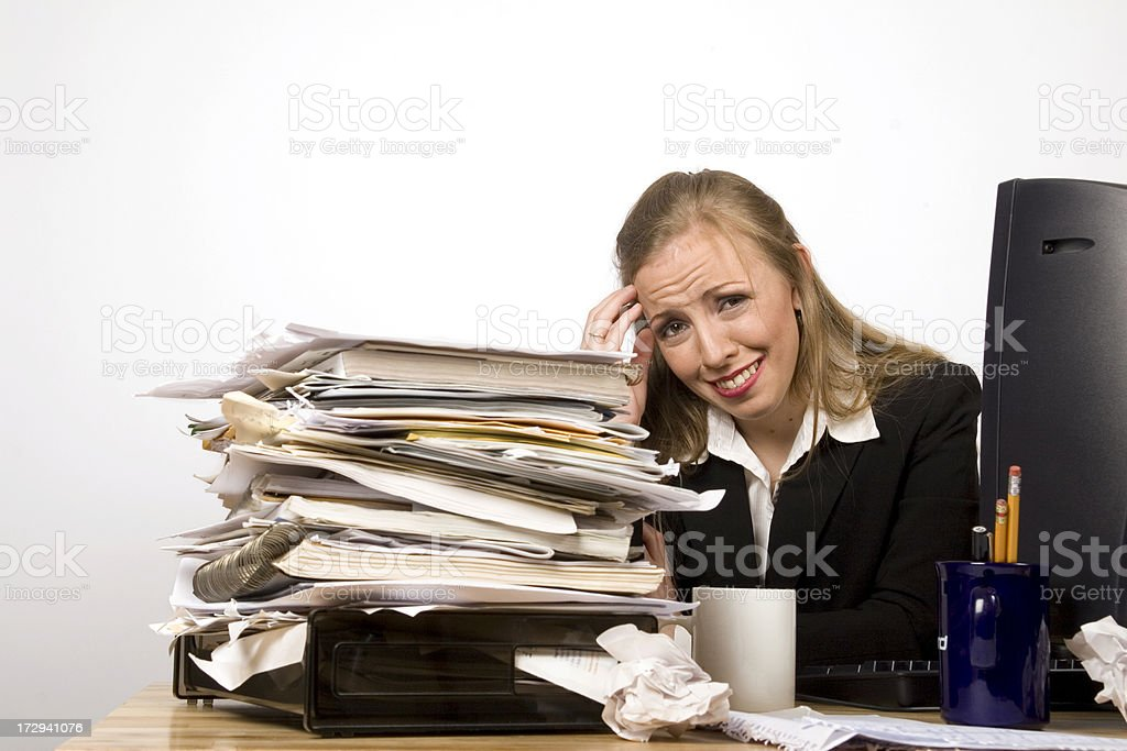 Overworked 2 royalty-free stock photo