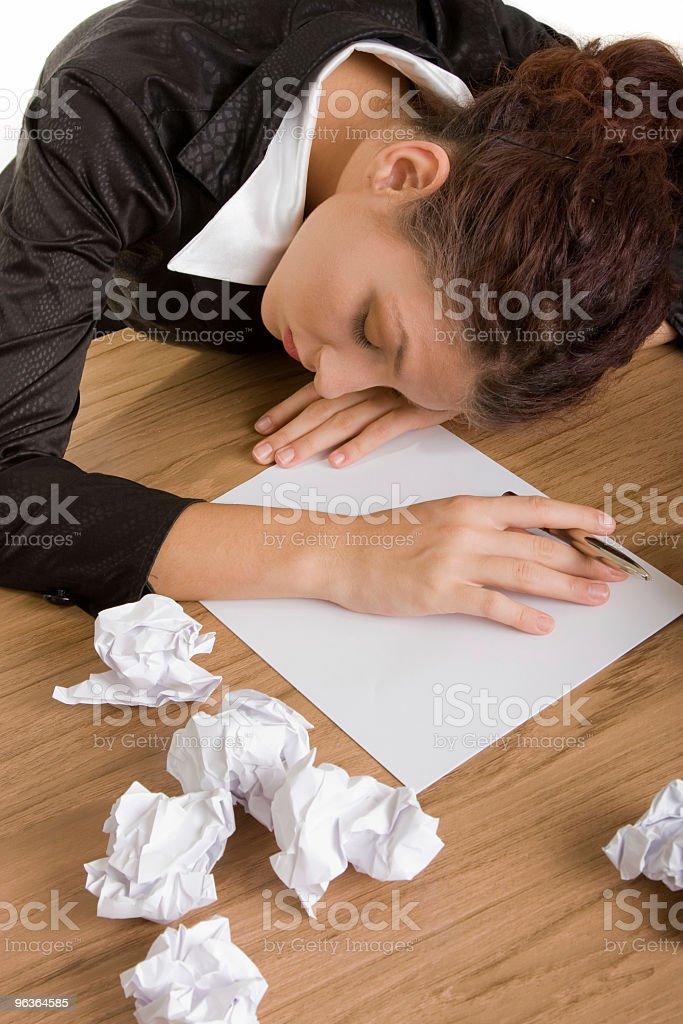 Overworked & Asleep royalty-free stock photo