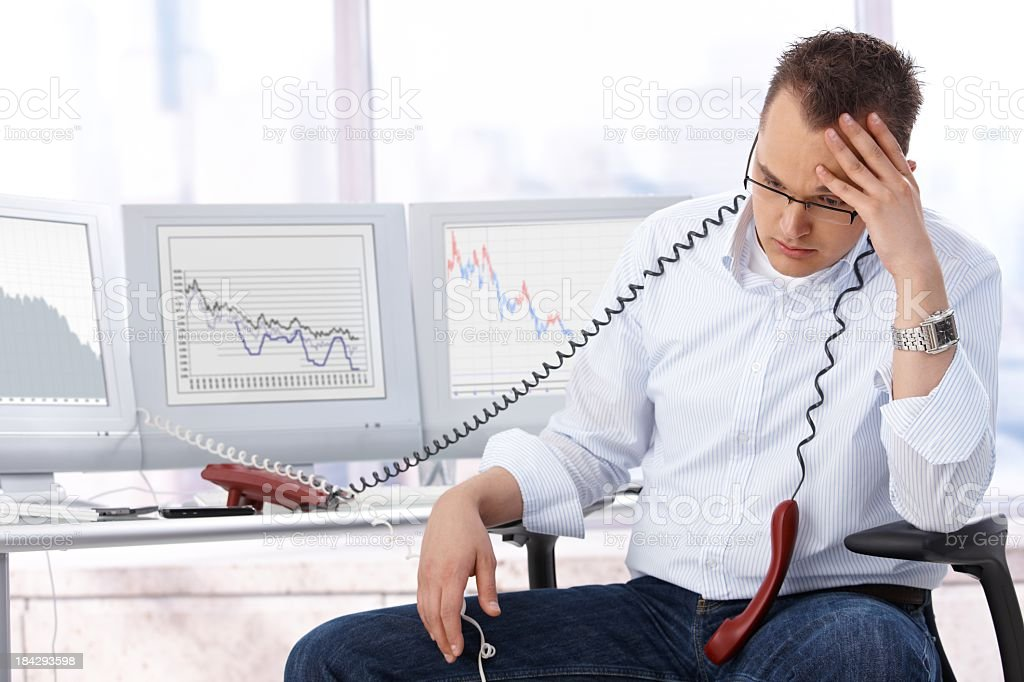 Overworked businessman royalty-free stock photo
