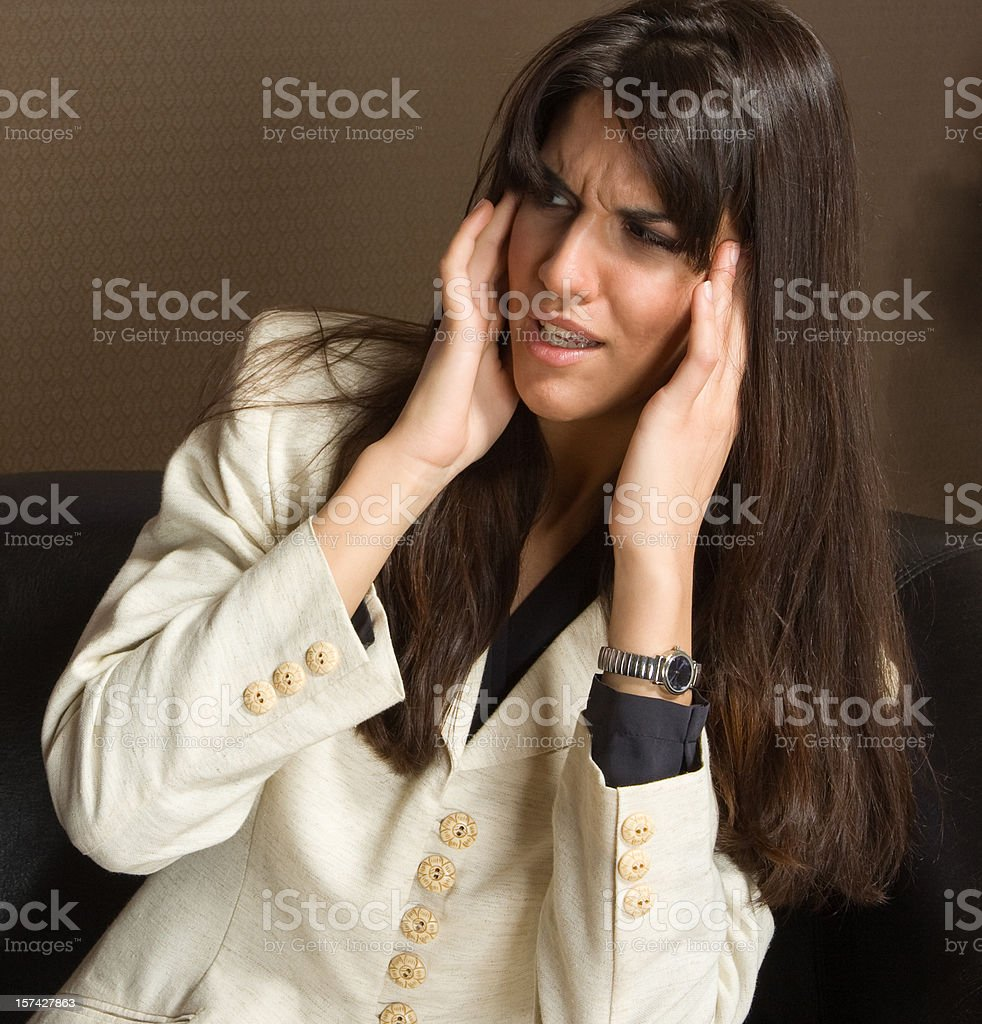 overworked businesswoman royalty-free stock photo