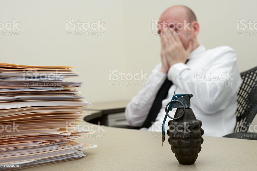 Overworked Concept stock photo