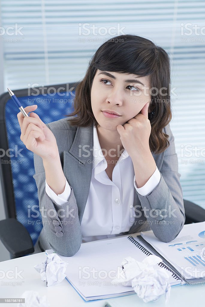 Overworked royalty-free stock photo