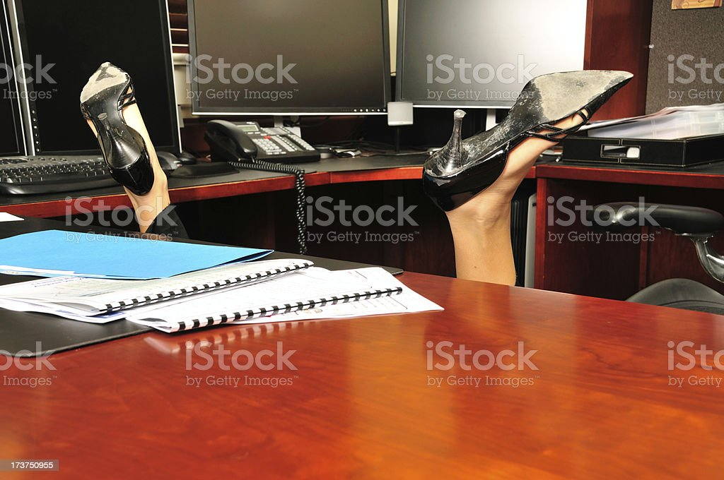 Overworked stock photo