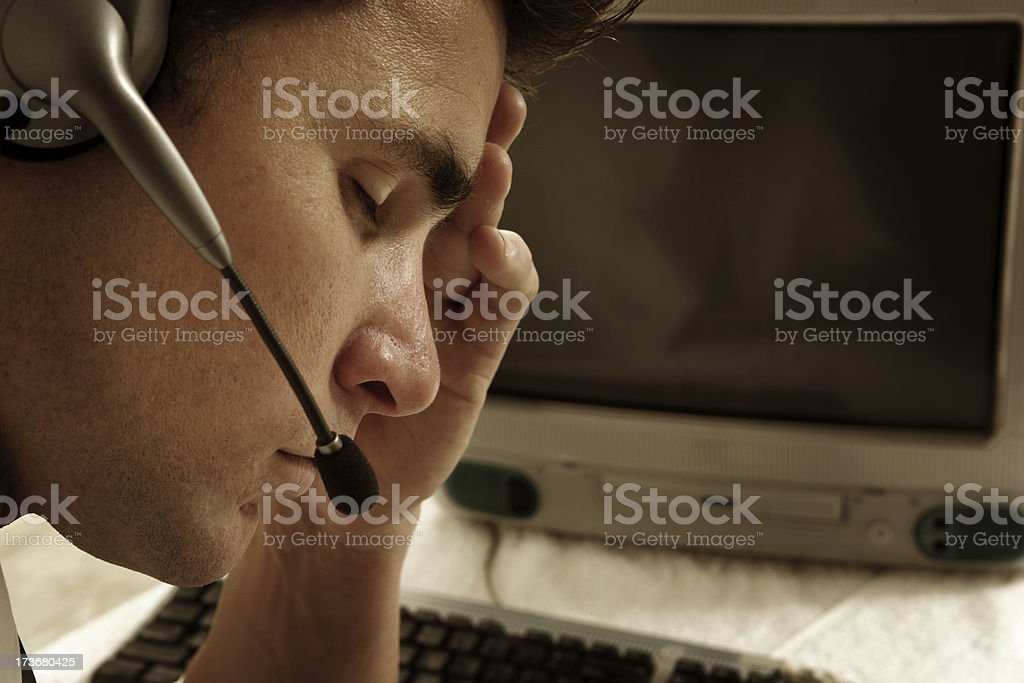 Overworking royalty-free stock photo