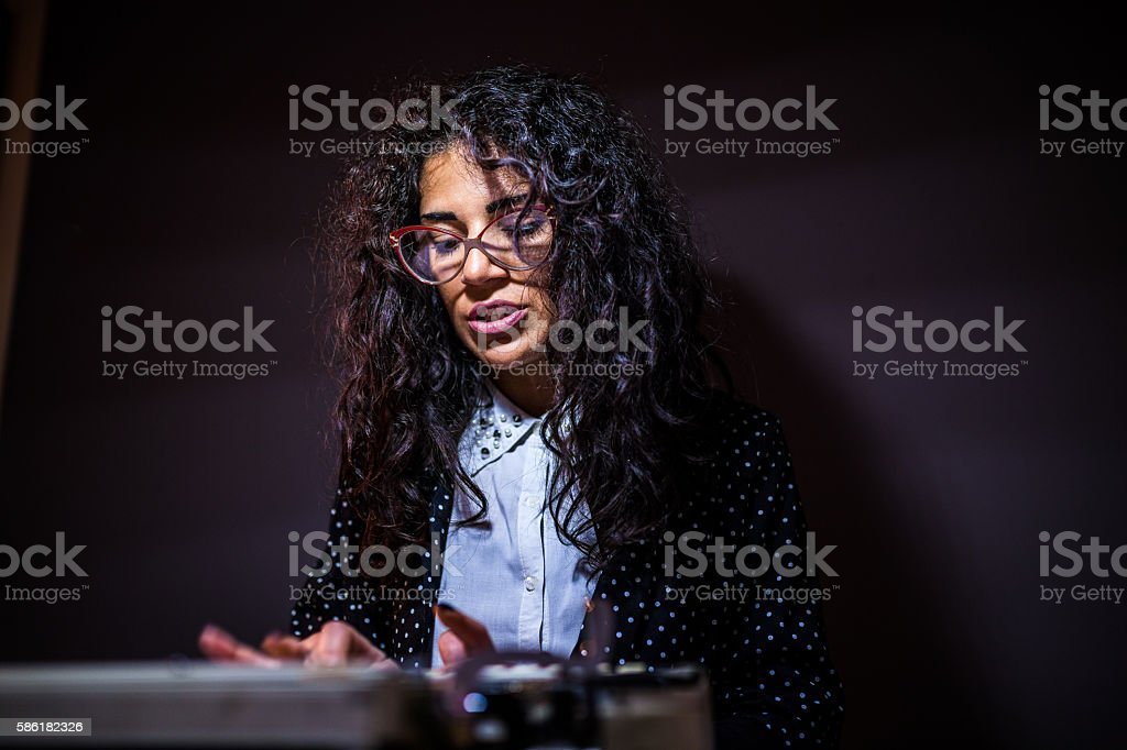Overworking stock photo