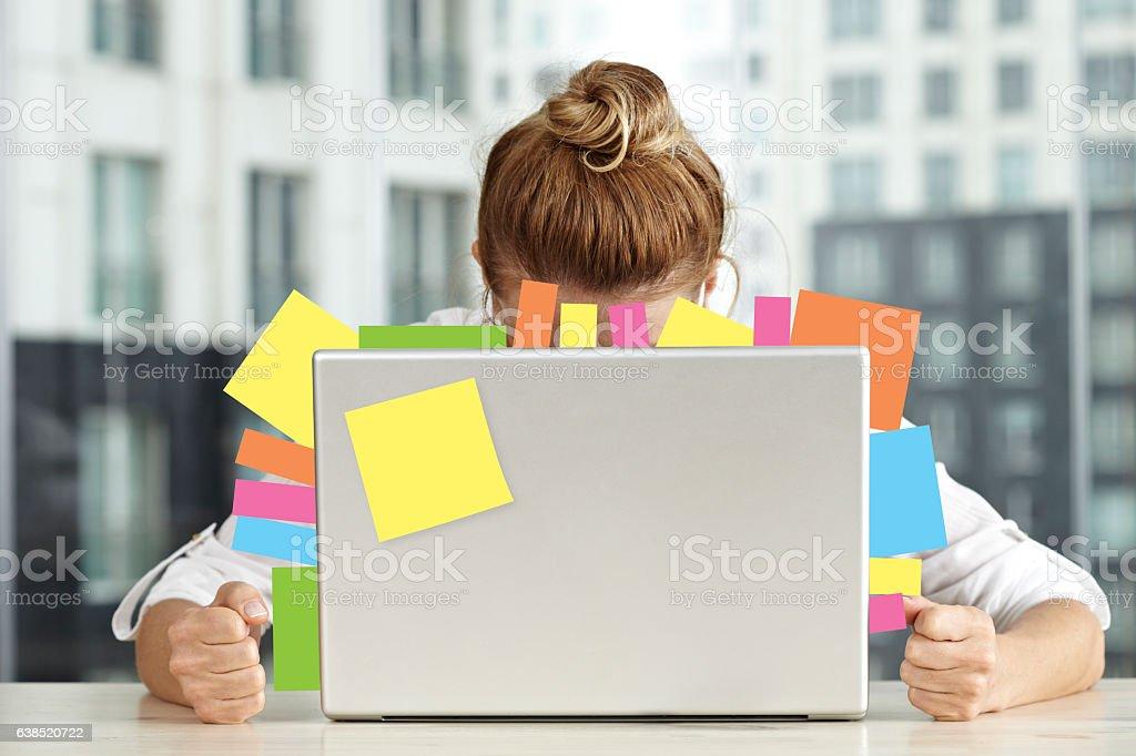 Overworking stock photo